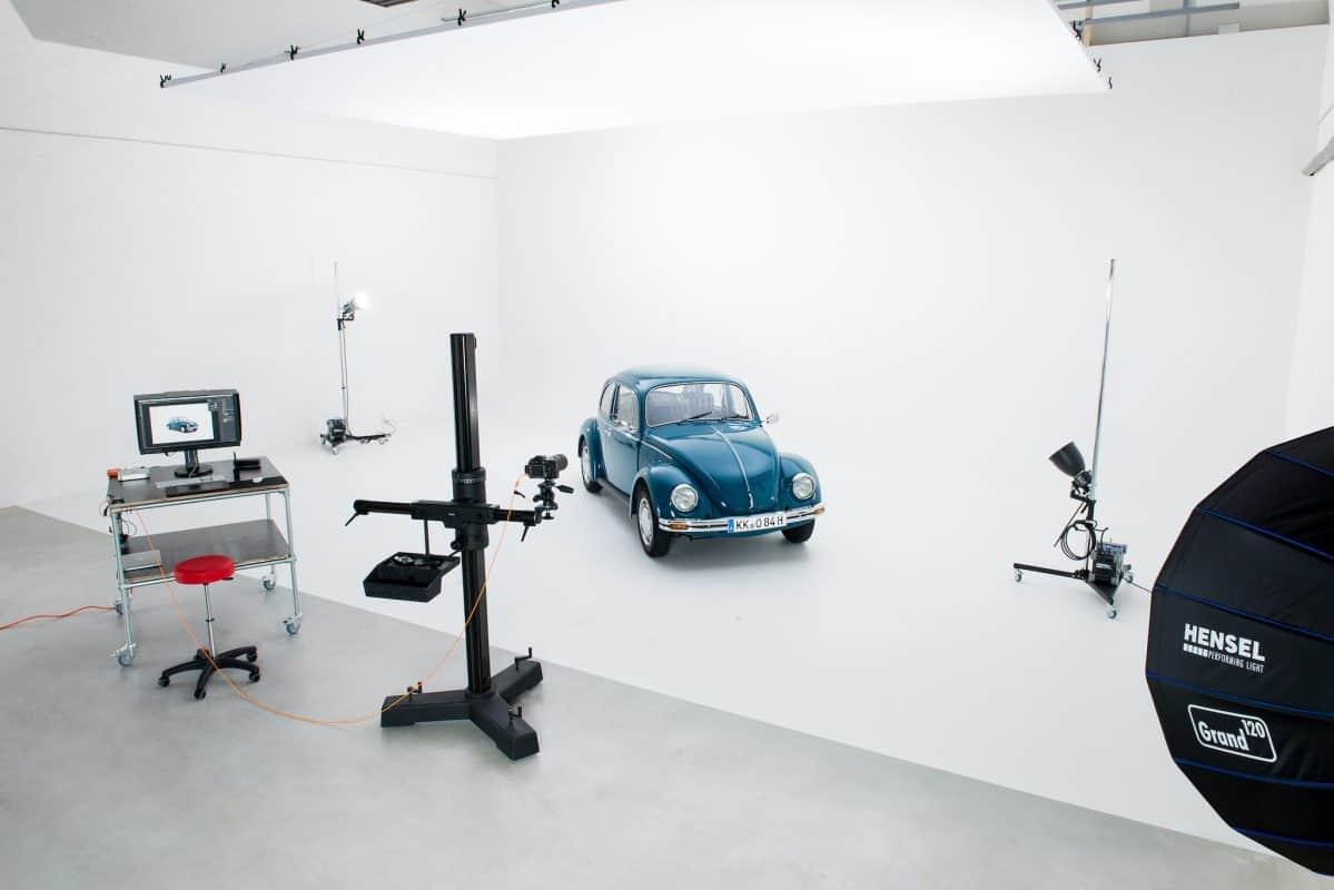 Weiße Kohlkehle für Produktfotografie oder Videoproduktion